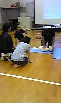 6月の定例会救命救急講習会